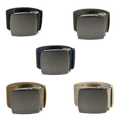 1x Military Style Canvas Web Belt Tactical With Zinc Alloy Buckle Casual Outdoor