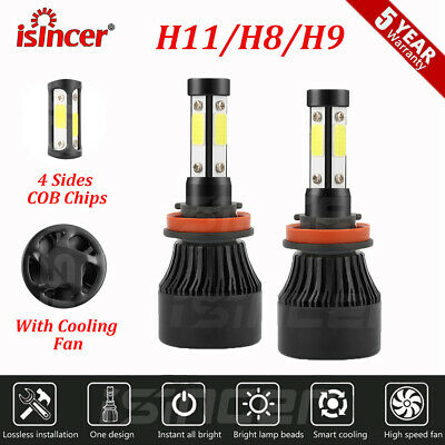 Bright CSP Chip H3 LED Headlight Kit 160W 30000LM 6000K Fog Light Bulb CANBUS
