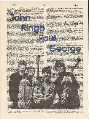 John Lennon Hiness Quote Print Vintage Dictionary Page