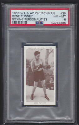 Churchman - Boxing Personalities 1938 - Gene Tunney - PSA 8 NM-MT