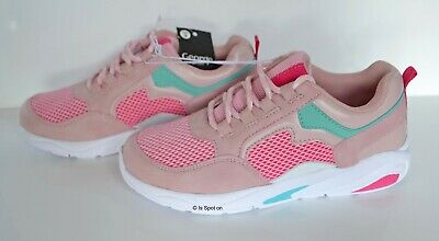 Girl's Pink Mix Trainers from George, Lace Up, UK 3 EUR 36, BNWT