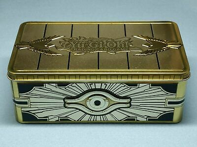YuGiOh 2019 MEGA TIN - GOLD SARCOPHAGUS - EMPTY Collectible Tin - Fast Ship
