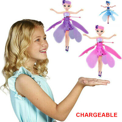 Flying Fairy Princess Doll Infrared Induction Control Toy Xmas Halloween Gift UK