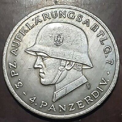 WW2 WWII German military war Panzer badge coin medallion medal 1939-45