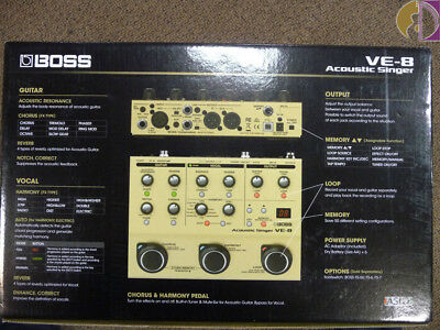 Boss VE-8 Acoustic Singer, Free Shipping to Lower USA