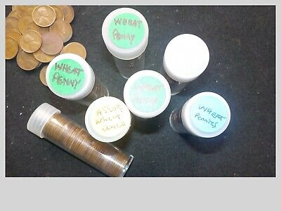 Lot of 50 - Random Date 1c Lincoln Wheat Cent Pennies Full Roll in plastic penny