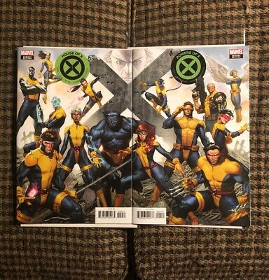 House Of X 4 Power Of X Men Variant Both Connecting Cover Set Molina Marvel 2019