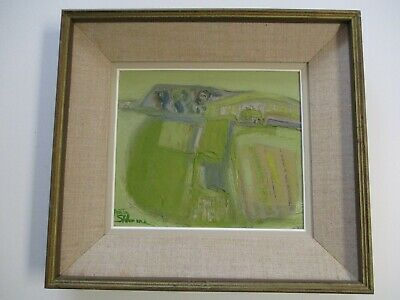 Finest Anita Shelbourne Painting Vintage Piperstown Landscape Modernism Abstract