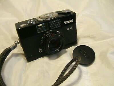 Quality ROLLEI B35 35mm Compact Film Camera With TRIOTAR 3.5 40mm Lens