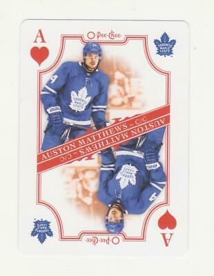 2019-20 O-Pee-Chee Auston Matthews Ace Of Hearts SP Playing Card (19-20)  OPC
