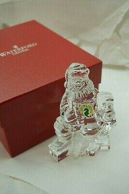 Waterford Crystal Santa With Train Sculpture Figurine 1St Ed 108146 Mib Box
