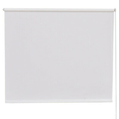 FULL SHUT ROLLER BLIND/BLINDS 150CM DROP W90 Thermal BLACKOUT Trimmable WHITE UK