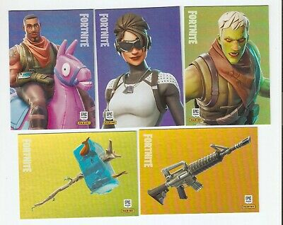 Panini Fortnite Complete Set Of 100 Base Cards Outfit Weapon Tool  #001-100