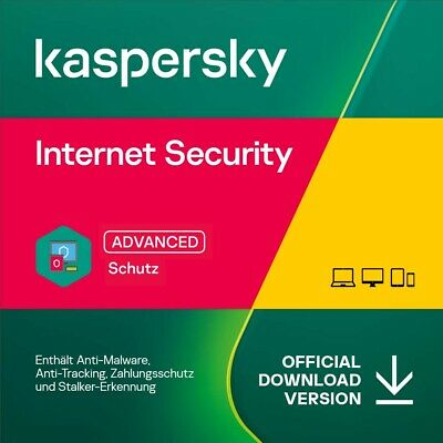 Kaspersky Internet Security 2020 - alle Versionen - 1, 2 oder 3 Jahre - Download