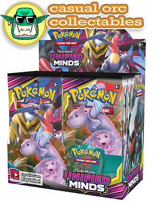 2 X Pokemon TCG Sun & Moon Unified Minds Booster 10 Card Pack - Brand New -