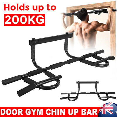 Pull Chin Up Bar Station Wall Mount Doorway Power Tower Home Muscle Exercise Gym