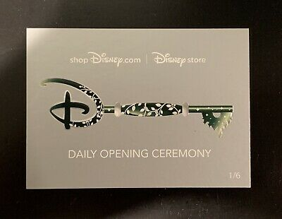 D23 EXPO 2019 DISNEY STORE VINYL KEY COLLECTOR CARD OPENING CEREMONY Card 1/6