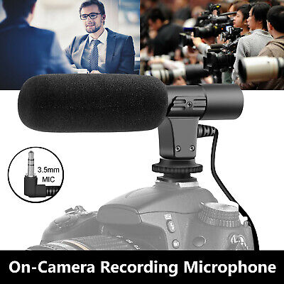 External Interview Video Recording Camera Microphone MIC For Nikon Canon DSLR DV