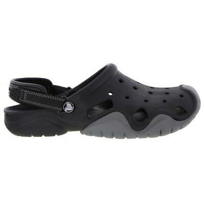 Crocs Swiftwater Clog Mens Black Slip On Sandals Shoes Size 7-12