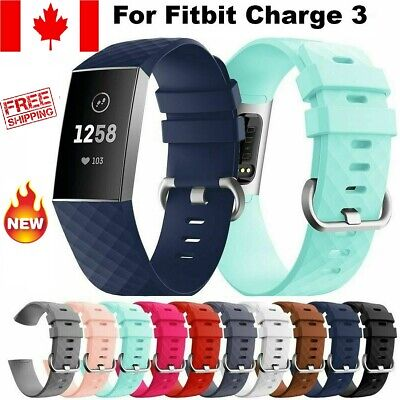 Replacement For Fitbit Charge 3 Silicone Watch Wrist Sports Band Strap Wristband