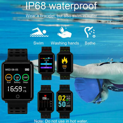 Waterproof Sport Smart Watch Blood Pressure Heart Rate Pedometer For iOS Android