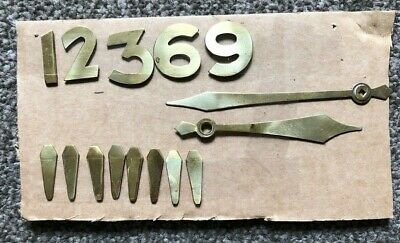 Genuine Smiths Enfield Art Deco Brass Clock Dial Numbers and Hands