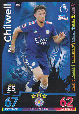TOPPS MATCH ATTAX 2018-19 - Ben Chilwell - Leicester City - # 188