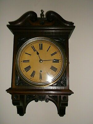 Antique  Carved Oak 8 Day Wall Clock