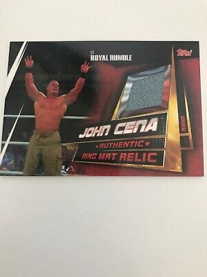 WWE Slam Attax Universe Limited Edition Ring Mat Relic Card John Cena Topps