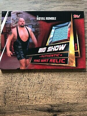 Topps WWE Slam Attax Universe Big Show Royal Rumble Mat Relic Card