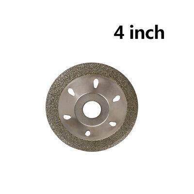 4 Inch 100mm Diamond Grinding Disc Glass Stone Cutting Blade for Angle Grinder