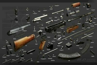 AK47 Exploded View Diagram Poster Multiple Sizes 11x17-24x36
