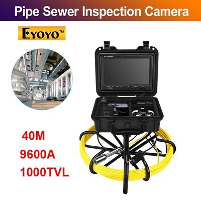 """Eyoyo 9600A Under Water Pipe Sewer Inspection Camera System 40M 9"""" IP68 1000TVL"""