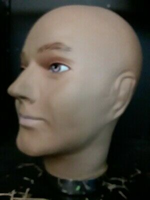 Male Latex Mannequin Bald  Head For Hats,Glasses And Other Uses