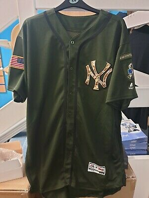 New York Yankees Aaron Judge Armed Forces Day Jersey Baseball 48 Majestic MLB