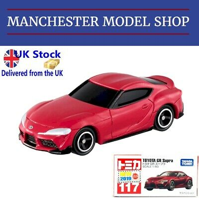 """Tomica 117 Toyota GR Supra red """"New 2019"""" BOXED UK STOCK!"""