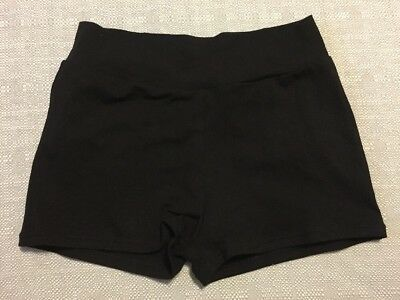 Capezio Little Girls' Cut Low Rise Black Short; Size M