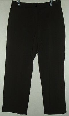 Womens 6P JM COLLECTION BROWN ANKLE PANTS 6S tummy panel
