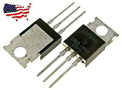 """10 x IRF840 /""""IR/"""" Power MOSFET N-Channel 8A 500V Free Shipping USA SELLER"""
