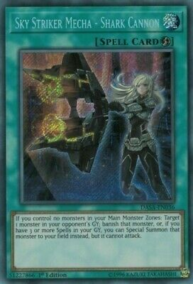 Sky Striker Mecha - Shark Cannon (DASA-EN036) - NM Secret Rare First ed. Yugioh