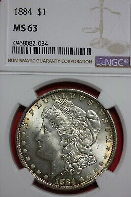 1884 P MS 63 Morgan Silver Dollar NGC Certified Graded Authentic Slab OCE 063