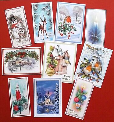 Mixed Traditional Christmas Card Topper Assorted Shapes X 10