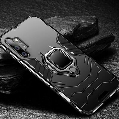 For Samsung Galaxy Note 10 Plus 5G Shockproof Ring Holder Armor Stand Cover Case