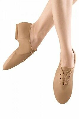 fits size 9.5 Bloch S0405G Tan Child 10M Leather Lace Up JazzSoft Dance Shoes