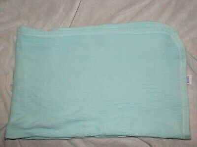 """Curity Waffle Weave Baby Blanket Thermal Vintage Blue Turquoise Soft 27"""" x 40"""""""