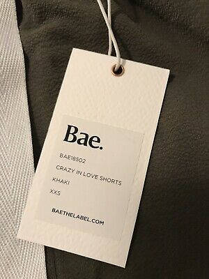 Bae The Label Crazy In Love Shorts XXS