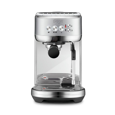 Sage Appliances SES500 Espresso-Maschine The Bambino Plus, Gebürstetes Edelstahl