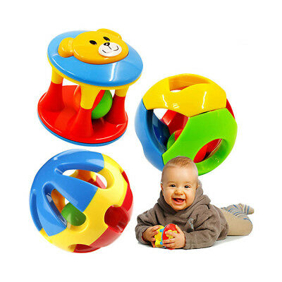 Plastic Baby Rattles Hand Shake Bell Early Learning Kid Gift Educational Toys