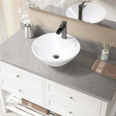 V2003 White Porcelain Antique-bronze Faucet and Pop-up Drain