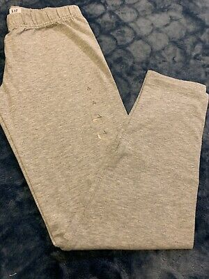 NEW GAP Kids Girls Full Length Leggings LIGHT GRAY  Sz L (10)